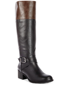NEW Style & Co Women's Venesa Western Boots Size 8 M Black / Chocolate $86