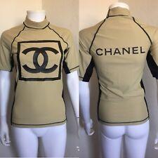 Rare Vintage Chanel Nylon CC Logo Top S/M