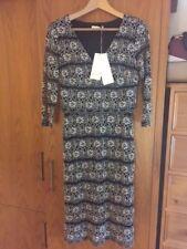 M&S Per Una Pretty Black Cream Lace Dress Size 8 Long RRP £55