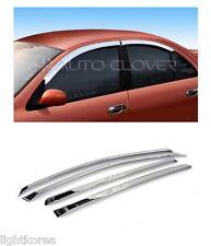 Chrome Window Rain Sun Door Visor 4P 1SET For Renault Fluence SM3 2002 2009