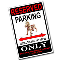 Reserved Parking 1970's Marvel The Mustang Only 8x12 Inch Aluminum Sign