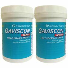 Gaviscon Advance Chewable 60 Tablets Mint - 2 Pack