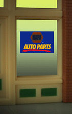 Animated Neon Window Sign NAPA Auto Parts HO Scale 1:87 or O Scale Model Trains