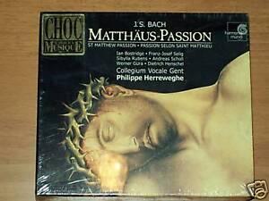3 CD -J.S.BACH-PHILIPPE HERREWEGHE-MATTHAUS PASSION-NEW