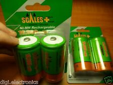 2x D Size Rechargeable Batteries NiMH 10000mAh HI CAP Battery Scales+ Australia
