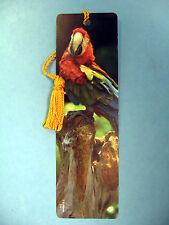 """McCaw Parrot"" On A Tasseled Bookmark (goldenrod tassel) Sku# 374"