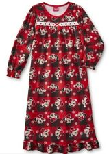 MINNIE Mouse Nightgown Girl's size 8 NeW Pjs Soft Warm Flannel Gown Pajamas USA