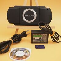 BLACK Sony PSP 1000 System w/ Memory Card & Charger Bundle TESTED WORKS Import