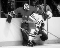 NHL 1979 Montreal Canadiens Ken Dryden Rangers Ed Johnstone Battle 8 X 10 Photo