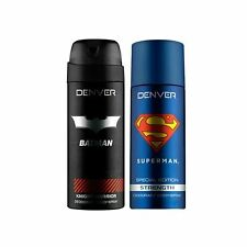 Denver Deodorant Spray Combo - Batman Knight Warrior & Superman Strength, 300 ml
