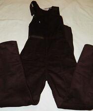 Vintage Levis Brown corduroy ski suit overalls snow suit pants size 13/14 winter