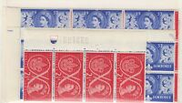 GB QEII 1957 Scouts Blocks x 5 (Not Green) SG557/558 Mint X9758
