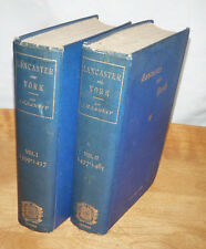 Lancaster and York by Sir Ramsay, 1892, 2V includes fold-out maps and charts