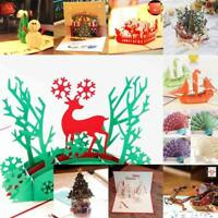 3D Up Card Invitation Greeting Cards Christmas Happy Birthday Gifts 2019