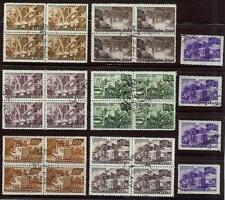 Russia 1947 Sc# 1172/82 Reconstraction  5 year plan blocks 4 NH CTO