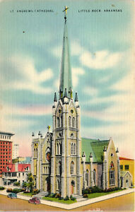 Little Rock, Arkansas, St. Andrew's Cathedral - Postcard (B18)