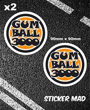 GUMBALL 3000 Stickers 9cm F1 Lemans miglia Monaco Supercars Classic Car FERRARI