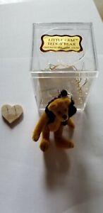 """LITTLE GEM 3"""" TEDDY BEAR WITH PANDA NIB"""