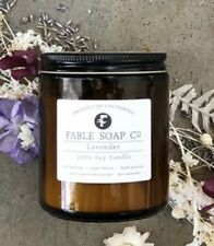 FABLE SOAP CO. LAVENDER 100 % SOY CANDLE 8 Oz. NEW *free shipping*