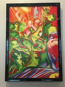 Alex Ross Batman: Final Crisis Signed Framed Giclee Canvas #6 of 7 SDCC 2018 S/0