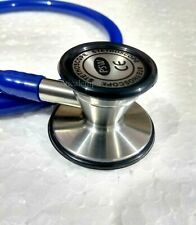 Stethoscope Cardiology Stainless Steel Head Dual diaphragm Tubing Blue