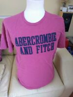 Abercrombie & Fitch Men's T-Shirt Size M Pink Short Sleeve Crew Neck