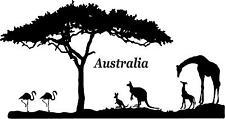 Australia flamingo,kangaroo and baby giraffe and baby mural vinyl wall decal