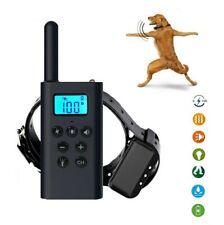 Dog Collar 4 Modes Training Remote Control Large 1600ft Waterproof Rechargeable