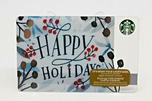 Starbucks Coffee Gift Card 2016 Happy Holidays Christmas Winter Zero Balance