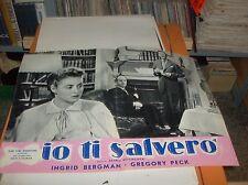 ALFRED HITCHCOCK - IO TI SALVERO'  fotobusta originale 1945 tipo C