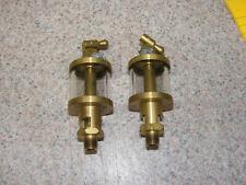 2 New Brass Gas Engine Drip Oilers Glass Sight