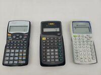Lot of 3 Scientific Calculators TI-30XA TI-30XIIB & Sharp EL-531W Free Shipping