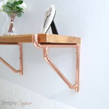 COPPER SHELF BRACKET WITH ANGLED BRACED SUPPORT - REAL COPPER HANDMADE