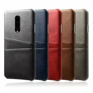 For OnePlus 7 Pro Retro Wallet Card Pocket Holder Case Leather Back Cover