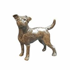 Jack Russell Dog Bronze Miniature Sculpture - Butler & Peach