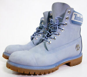 Timberland Premium 6 Inch Blue Leather Men's Boots Size 8 M A27K2 A3940