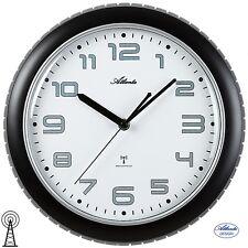 Atlanta 47 Radio Reloj De Pared Análogo Negro Gris oficina cocina 852