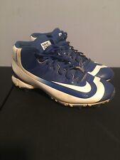 Lightly Worn Boys Nike Huarache Bsbl Baseball Cleats Size 5.5 Blue 807138-417