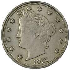 1911 Liberty Head V Nickel 5 Cent Piece AU About Uncirculated 5c US Coin