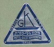 RARE old triangle shape Hotel label luggage label ISRAEL #270