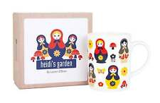 Russian Babushka Dolls Design Fine Bone China Tea Coffee Mug New Free Postage