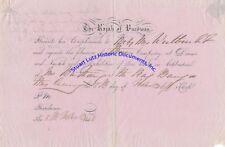 Rajah of Burdwan invitation for dinner & fire works 1846