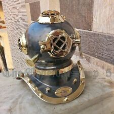 Vintage Mark V US Navy Solid Brass Scuba Deep Mini Divers Helmet Gift Diving