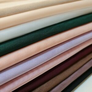 Power Net Fabric Premium Sheer 4 Way Stretch Mesh Lining Dressmaking Material 58