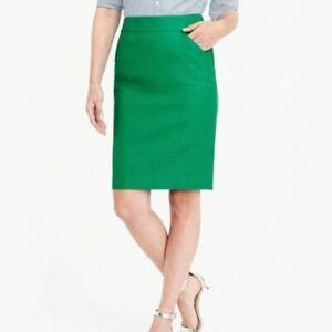 J Crew The Pencil Skirt Green Women's Size 14
