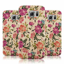 DYEFOR WOOD ROSES PURPLE CASE COVER FOR SAMSUNG GALAXY MOBILE PHONES