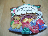 Merry Christmas Kristin Personalize Fridge Magnet Tree Ornament Jeane's Things