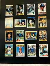 OLDIE MLB CARDS (SOME SIGNED) BUT GLUED TO CARDBOARD.