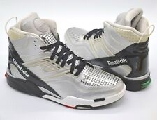 Worn Once Reebok Twilight Zone Pump Droid Silver/Black/Red/Green Rare Retro 12