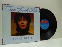 THOSE FRENCH GIRLS sorry sorry 12 INCH EX/EX-, SAFE LS41, vinyl, single, uk 1982